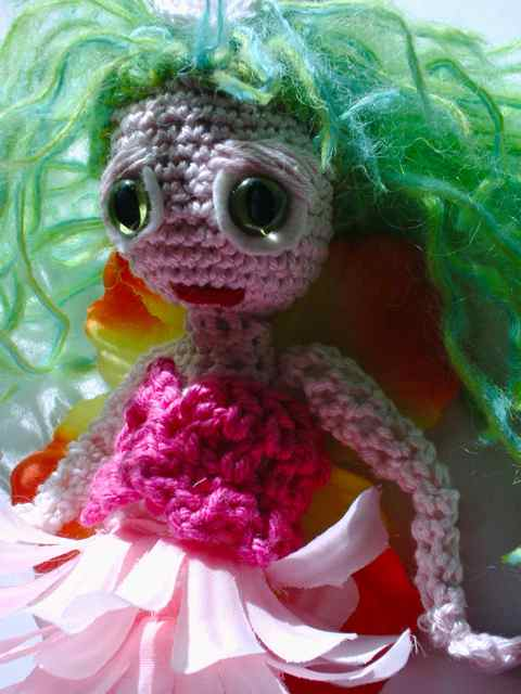 Beautiful crochet flower fairy