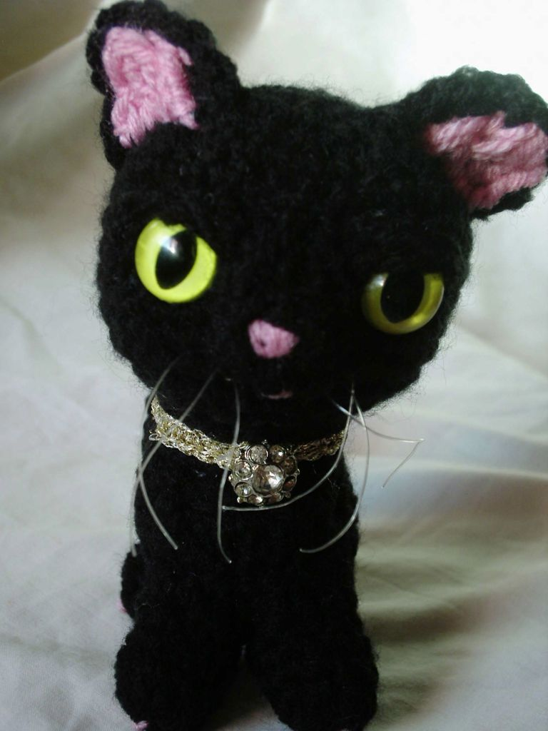 black cat crochet collectible cute amigurumi