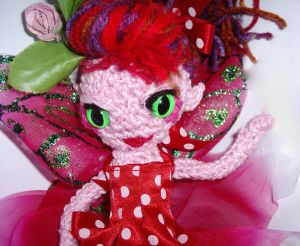 Cute crochet 50's style flower fairy doll