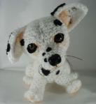 Cute crochet dalmation puppy