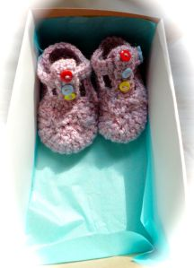 t bar crochet booties for babies