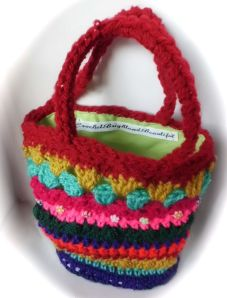 Crochet kids handbag