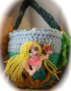 Crochet mermaid bag