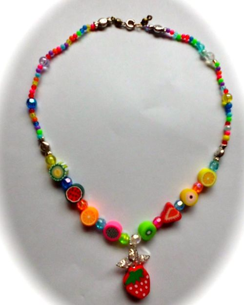 Kids necklace fruity